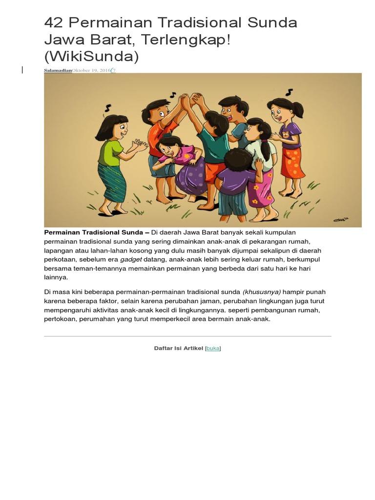 42 Permainan Tradisional Sunda Jawa Barat Docx