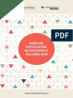 Bases de Postulacio_n Para Dictar Talleres An_o 2018