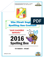 The First Fun and Exciting Spelling Bee Context - 2016