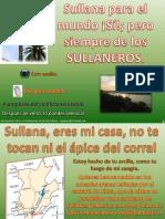 SULLANA PARA EL MUNDO. PERO SIEMPRE DE LOS SULLANEROS