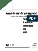 Manual de Operacion 600-AJ
