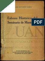Esbozo Histórico Del Seminario de Monterrey