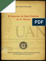 El Municipio de Santa Catarina, En La Historia
