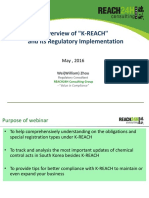 Overview of K-REACH and Its Regulatory Implementation