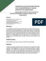 Análisis e Implementación de Corrección de Fallas Eléctricas Para Aumentar La Disponibilidad de Las Redes de Computadoras en Las