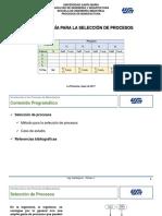 Tema VIII. Metodología para la Selección de Procesos