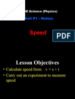 P1a - Speed and Acceleration