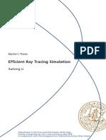Efficient Ray Tracing Simulation