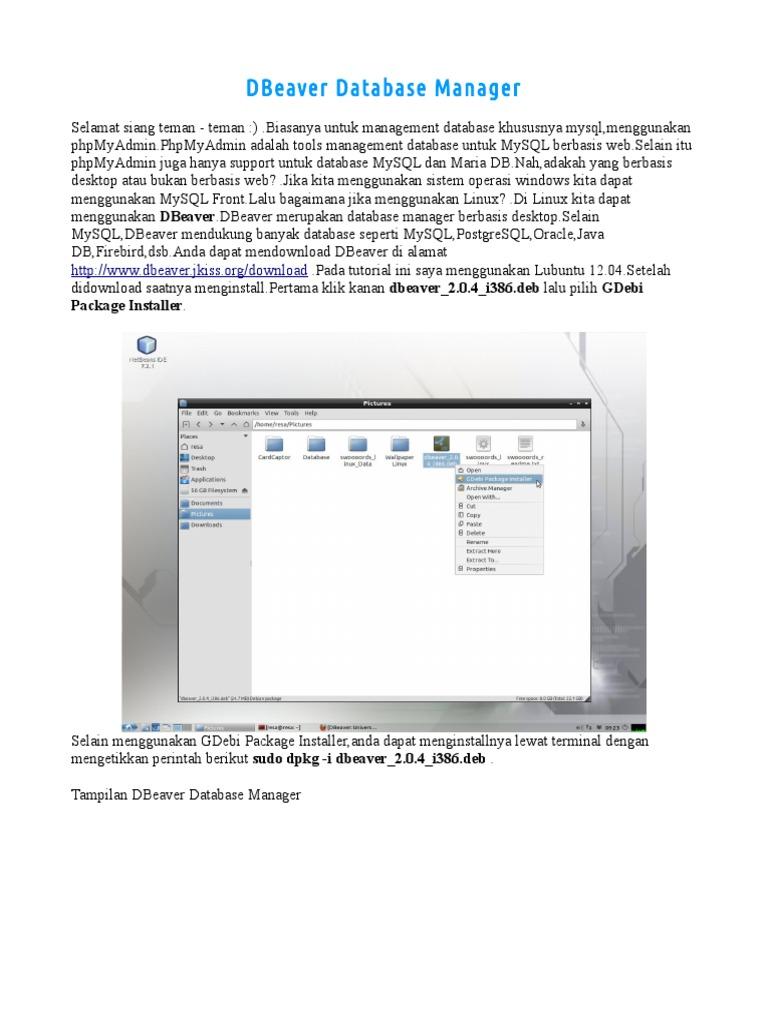 DBeaver Database Manager pdf