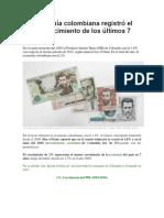 La Economía Colombiana Registró
