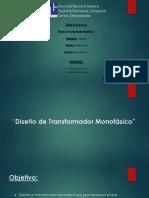 Diseño de Transformador Monofasico (Juan Carlos y Gerald)