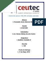 Tarea N3 - Control de Lectura - Analisis Contable II - Fernando Alarcon