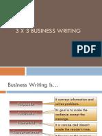 BUS COMM. 100 3x3 Writing