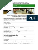 Formato Encuesta 2-Sg Ing. Quimica