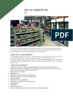 Cómo Iniciar Un Negocio de Minimarket