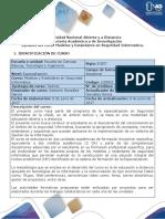 Syllabus Del Curso Modelos y Estándares en Seguridad Informática