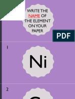 Elements Quiz