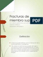 Fracturas Miembro Superior