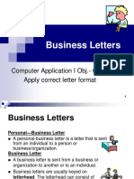 Business Letters Power Point