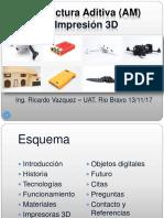 Manufactura Aditiva Ing Ricardo Vazquez