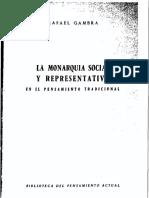 La monarquía social y representativa en el pensamiento tradicional - Rafael Gambra
