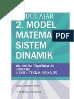 2. MODEL MATEMATIS SISTEM DINAMIK - MODUL AJAR.pdf