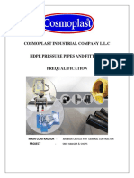 Cosmoplast - Hdpe Pressure - Prequalification