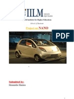 10936755 Marketing Research Project Report Tata NANO