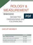 Metrology Measurement Slide Present