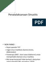 Penatalaksanaan Sinusitis
