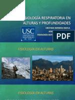 Fisiología en Alturas y Profundidades.