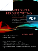 2 Copy Reading & Headline Writing - Copy