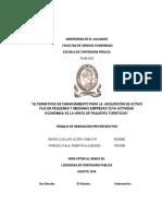 ALTERNATIVA DE FINANCIAMIENTO PARA LA ADQUISICION DE ACTIVO FIJO EN PEQUEÑAS Y MEDIANAS EMPRESAS CUYA ACTIVIDAD ECONOMICA ES LA VENTA DE PAQUETES TURISTICOS.pdf