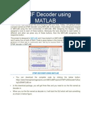 DTMF Decoder Using MATLAB | Matlab | Signal Processing