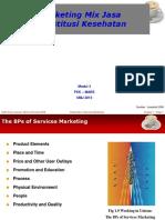 UMJ Marketing Modul 3 Marketing Mix Jasa RS Aug 2015.ppt