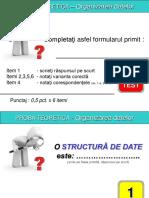 Organizarea datelor