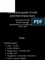Combustio Grade I-II With Potential Airway Injury