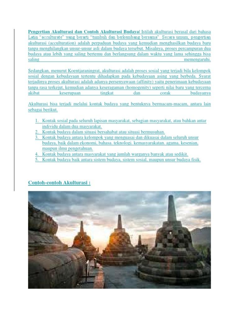 Pengertian Akulturasi Dan Contoh Akulturasi Budaya
