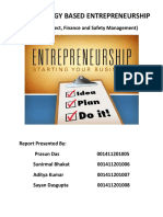 Technology Based Entrepreneurship