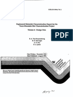 Engineered Materials Characterization Report for The