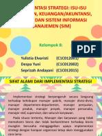 Ppt Kel. 8 Implementasi Strategi _isu2 Pemasaran,Keuangan,Litabng,Sim