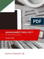BAIN BOOK Management Tools 2017