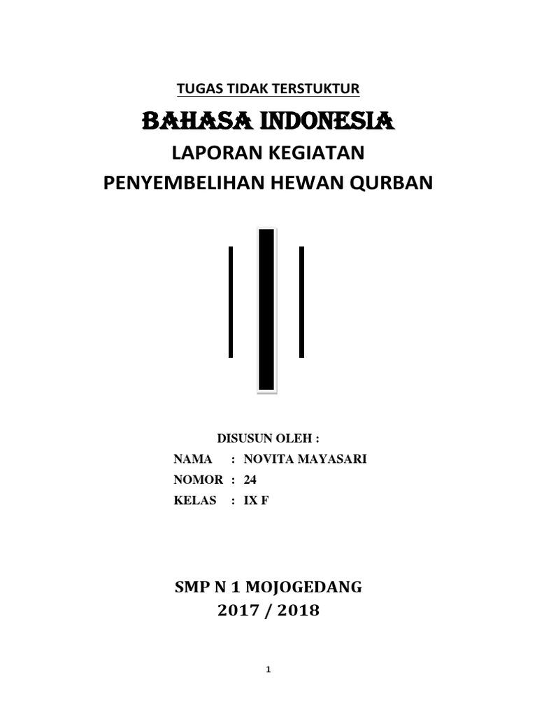 Contoh Hasil Laporan Kegiatan Qurban Seputar Laporan