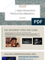 music video promotion production research blog post 1