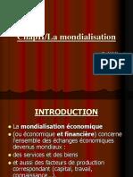 Chap 3 La Mondialisation