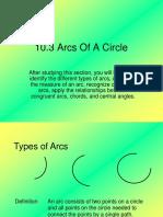 Lesson 10.3 Arcs of a Circle