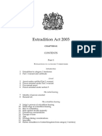 Extradition Act, UK, 2003