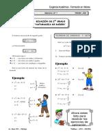 SEMANA 8 - Ecuación de 2do Grado