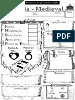 3D&T Alpha - Ficha de Personagem - Fantasia Medieval