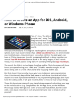 How to Create an App for IOS, Android, Or Windows Phone - Mobile App